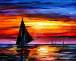 Away From The Sunset by Leonid Afremov