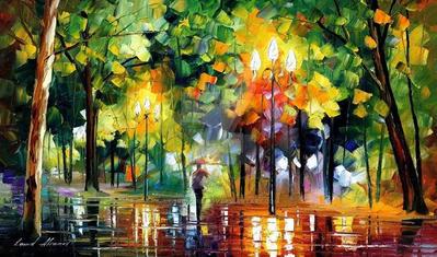 Night by Leonid Afremov by Leonidafremov