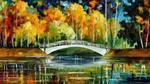 White Bridge by Leonid Afremov