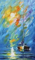 Caribbean Sunrise by Leonid Afremov