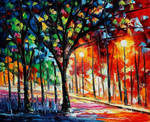 Lights Of The City by Leonid Afremov