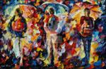 Three Umbrellas by Leonid Afremov