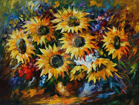 Sunny Bouquet by Leonid Afremov