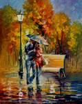 Red Raincoat by Leonid Afremov