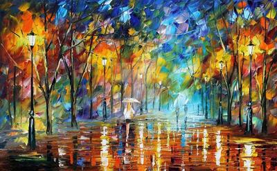 Park Of Pleasure by Leonid Afremov by Leonidafremov