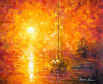 Orange Fog by Leonid Afremov