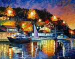 River Wharf by Leonid Afremov