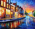 Amsterdam - Sunday Night by Leonid Afremov