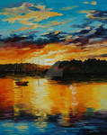 Reflections Of The Sunset by Leonid Afremov