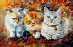 Kittens by Leonid Afremov