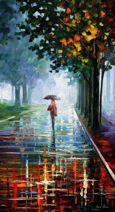 Morning Full Of Life by Leonid Afremov by Leonidafremov