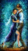 Blue Tango by Leonid Afremov