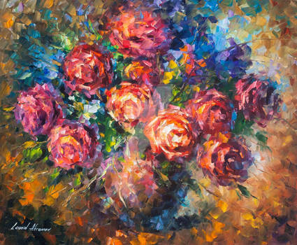 Strong Roses by Leonid Afremov