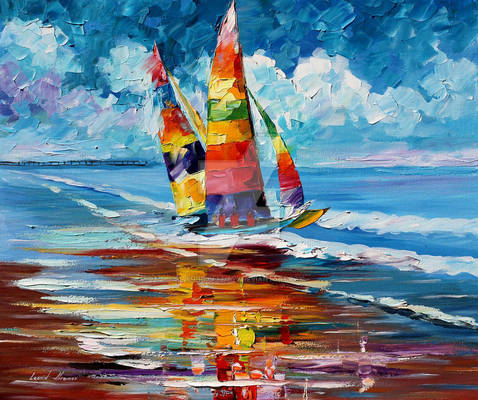 Shore Of Colors by Leonid Afremov