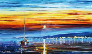 Sunrise Over The Sea by Leonid Afremov