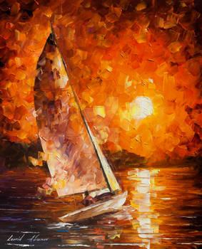 Sailing Towards Destination by Leonid Afremov