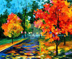 Flame Of Autumn by Leonid Afremov