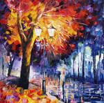 Fire Tree by Leonid Afremov