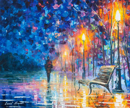 Abandoned by Winter by Leonid Afremov