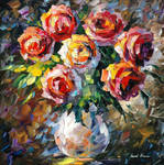 Lovely Flowers by Leonid Afremov