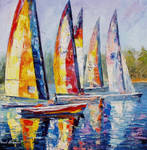 Sailboat Competition by Leonid Afremov