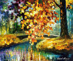 Branch Over Water by Leonid Afremov