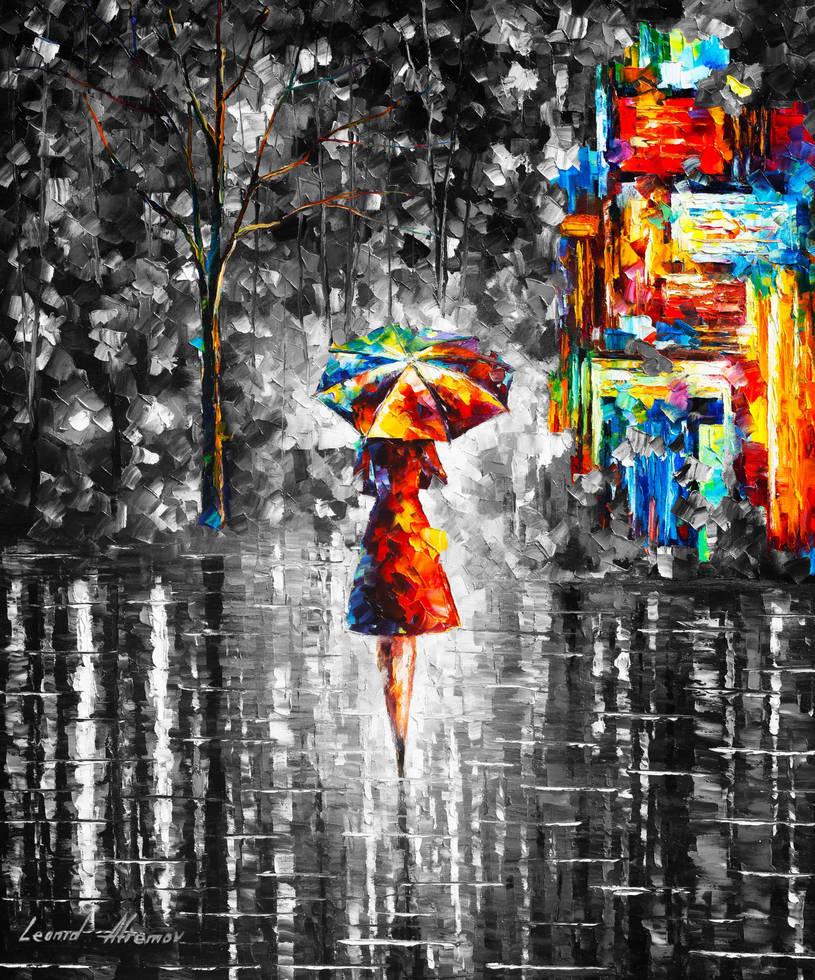 Rain Princess  Limited edition giclee by Leonidafremov
