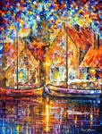 Old Ships by Leonid Afremov