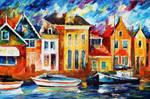 Amsterdam Dock by Leonid Afremov