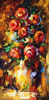 Summer Roses by Leonid Afremov