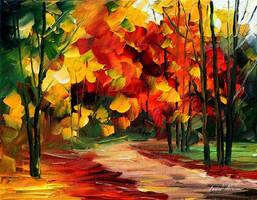 Golden Forest by Leonid Afremov