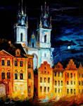Blue Castle by Leonid Afremov