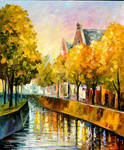 Fall In Amsterdam by Leonid Afremov