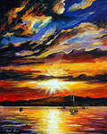 Flash Of The Sunset by Leonid Afremov