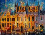 Bruges by Leonid Afremov
