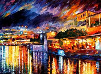 Naples - Vesuvius by Leonid Afremov