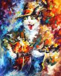 Romantic Cat by Leonid Afremov