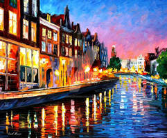 Amsterdam - Sunday Night by Leonid Afremov
