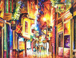Old Street by Leonid Afremov