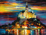 Castle Above The Harbor by Leonid Afremov