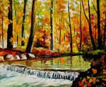 Forest Stream by Leonid Afremov