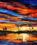 Tropical Sunset by Leonid Afremov