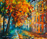 The Autumn Of The City by Leonid Afremov