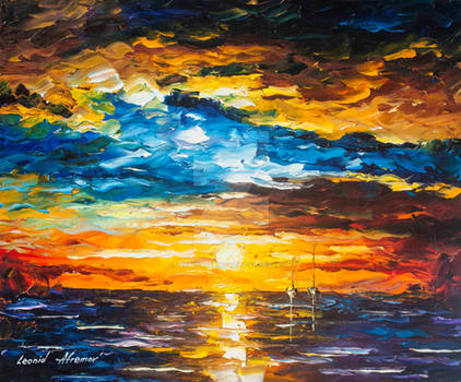 Calm Water by Leonid Afremov