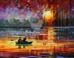 Night Fishing by Leonid Afremov
