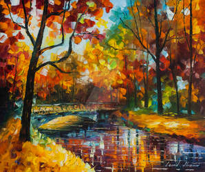 Forest Stream Under The Bridge by Leonid Afremov