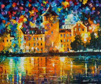 Castle By The Lake by Leonid Afremov