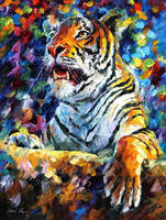 Angry Tiger by Leonid Afremov