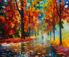 Orange For Love by Leonid Afremov