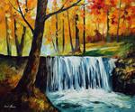 Waterfall by Leonid Afremov